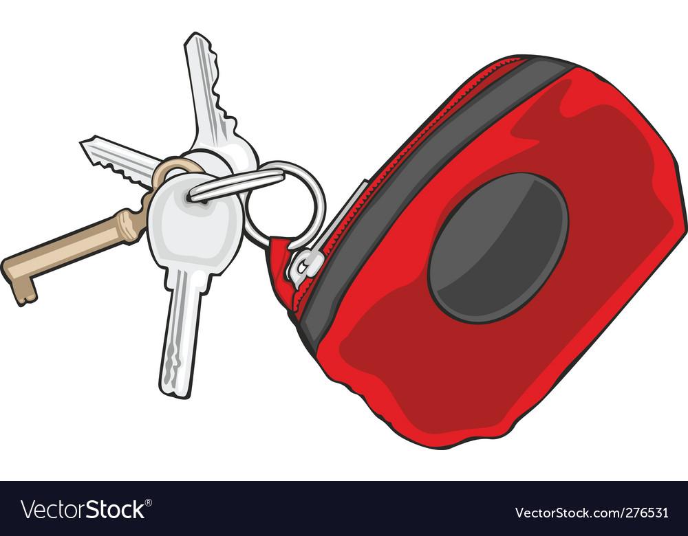 Key holder vector image