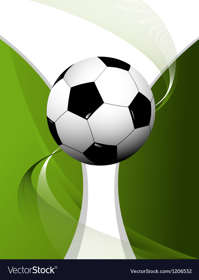 Abstract football background with cup vector image