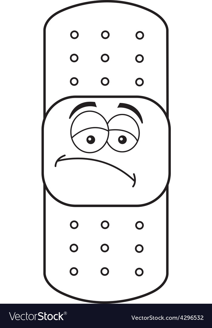Cartoon bandage vector image