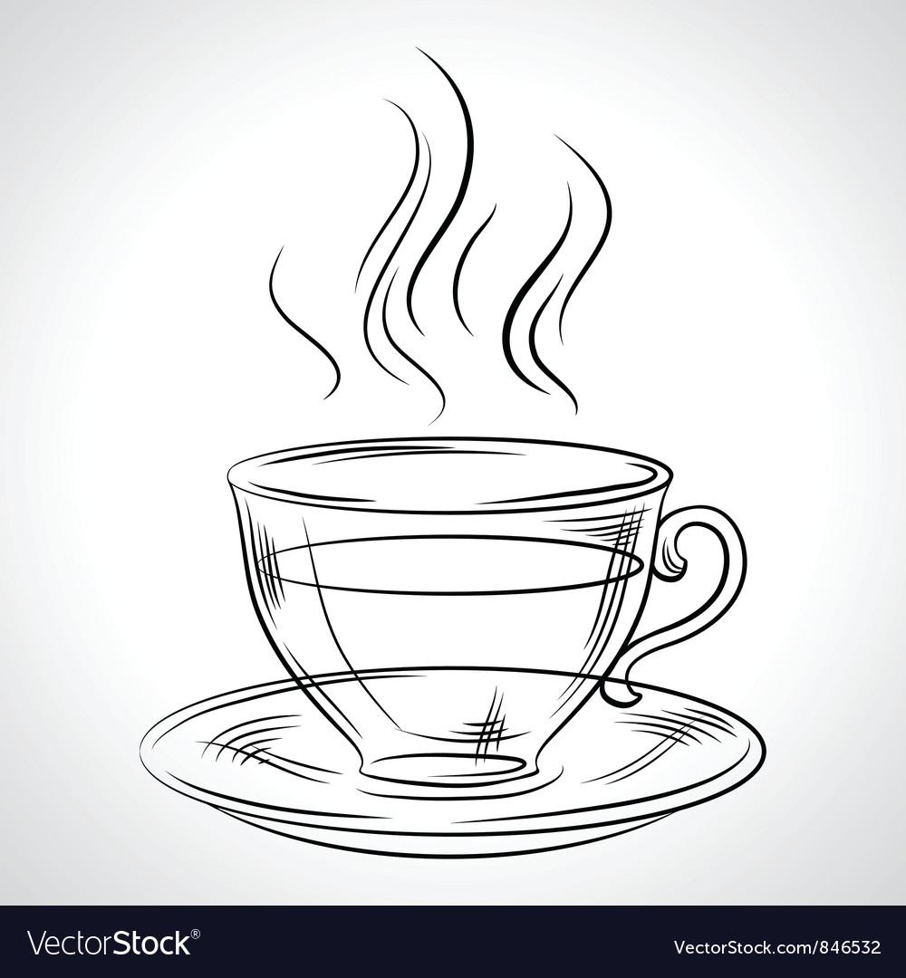 Cup mug of hot drink coffee tea etc vector image