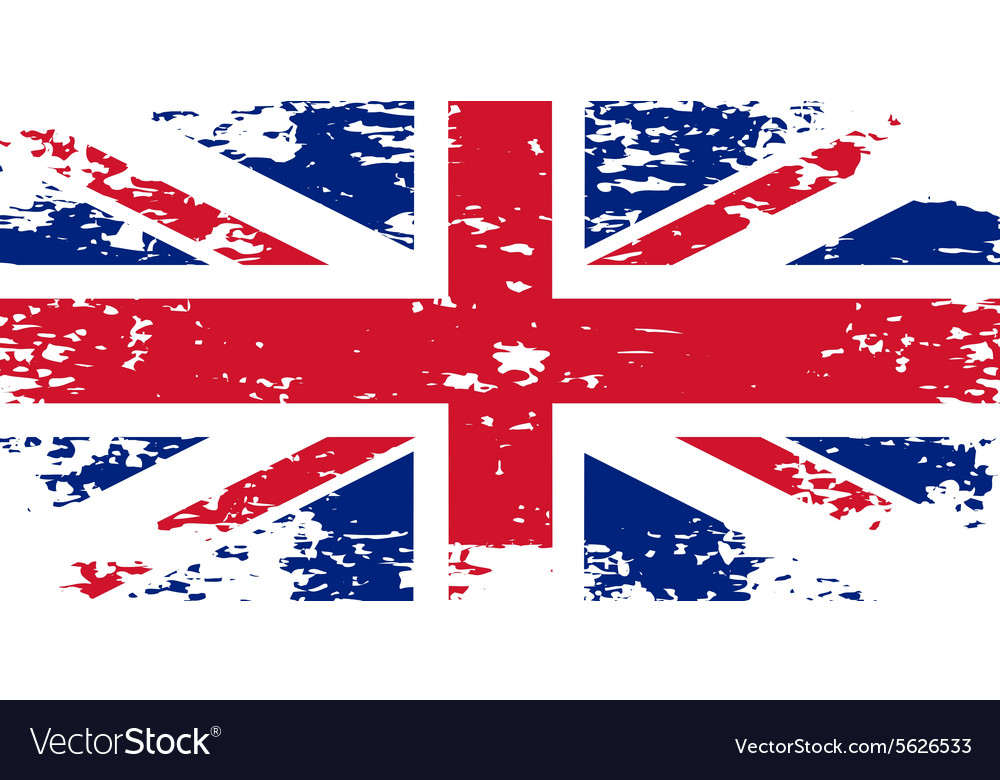 Abstract image of the flag Great Britain England vector image