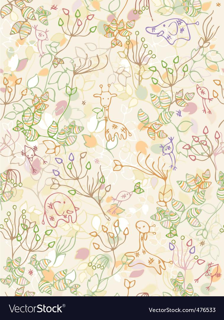 Animal pattern vector image
