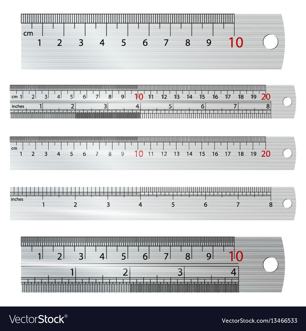 Metric imperial rulers centimeter and inch vector image buycottarizona Image collections