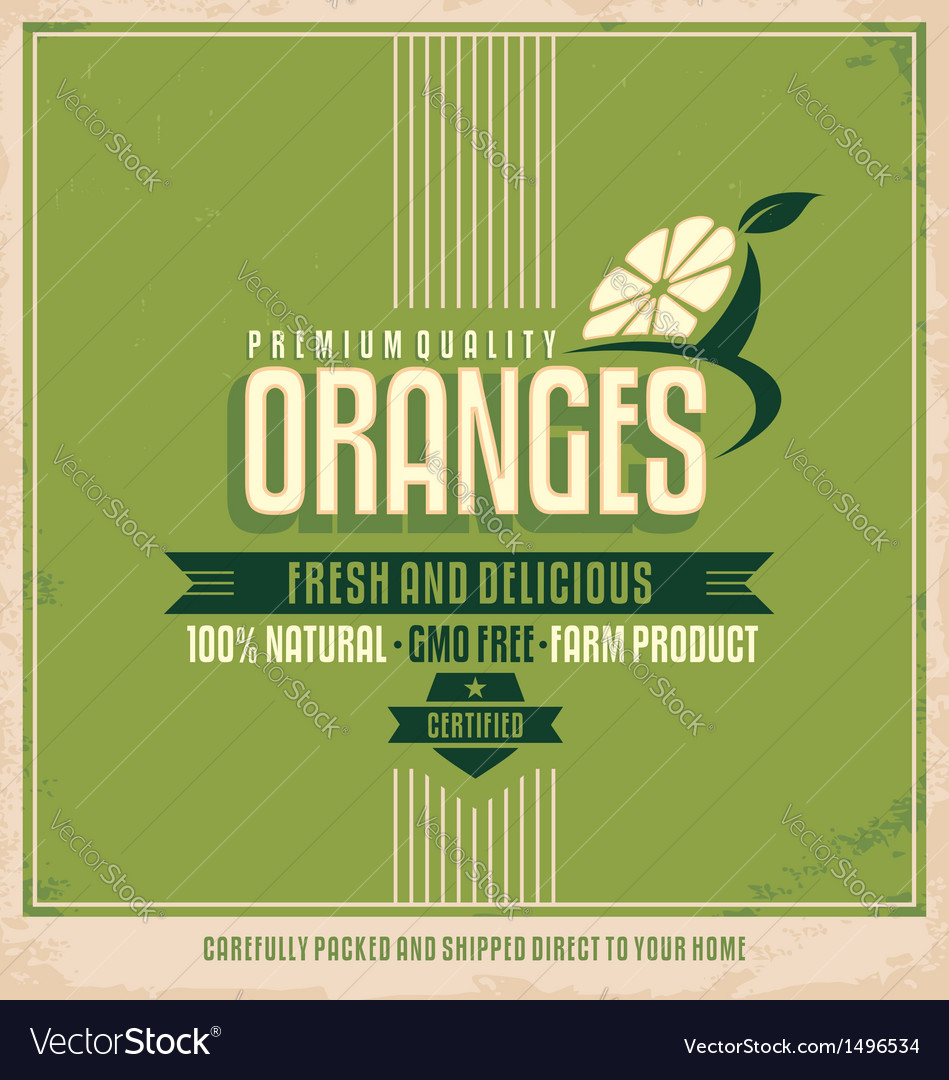 Fresh farm product poster design vector image