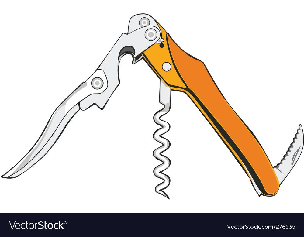 Cork screw vector image