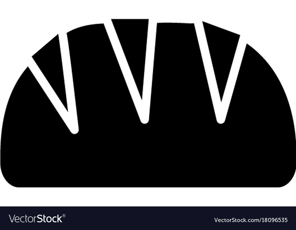 Bread loaf icon black sign vector image