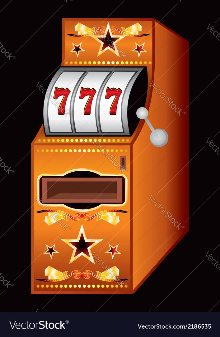 Casino machine vector image