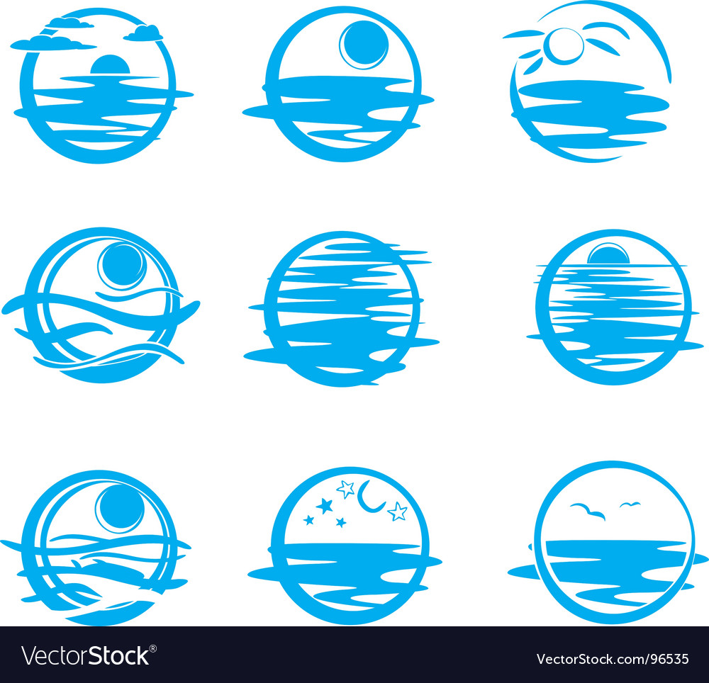 Icons of water vector image