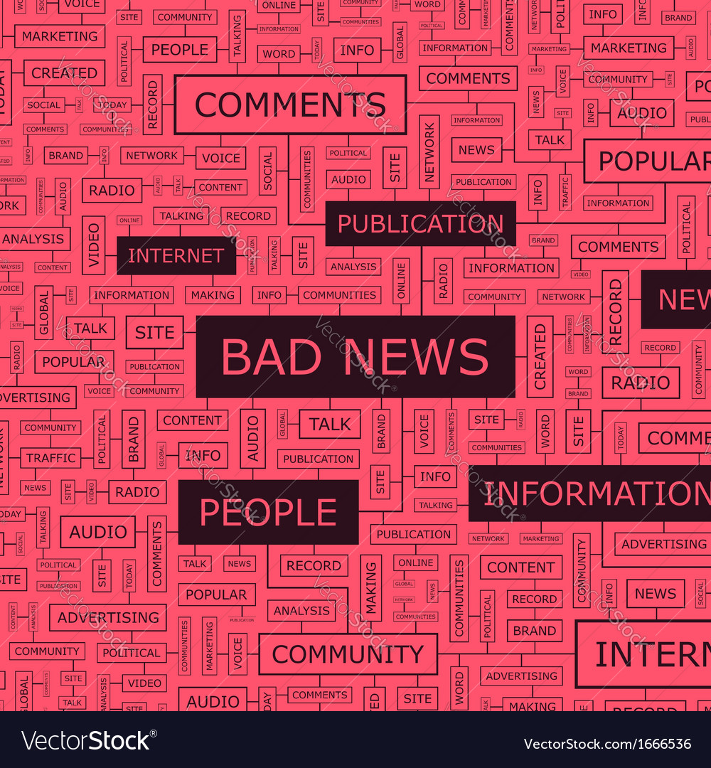 BAD NEWS vector image