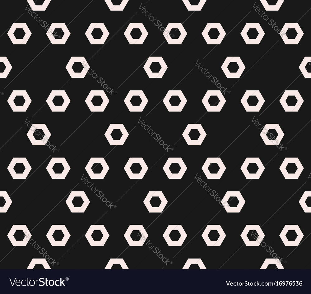 Hexagon texture monochrome seamless pattern vector image