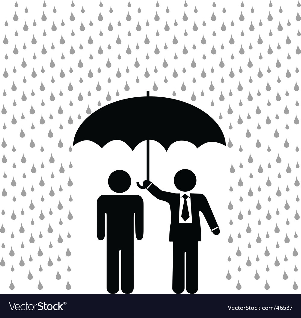 Insurance agent vector image