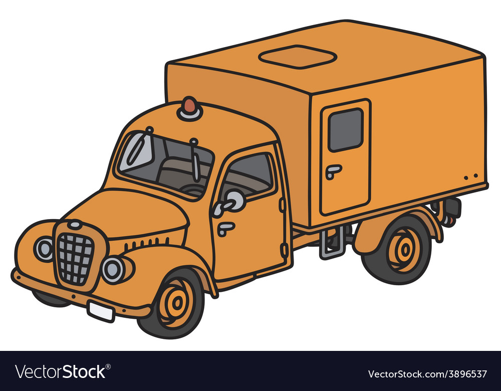 Old service truck vector image