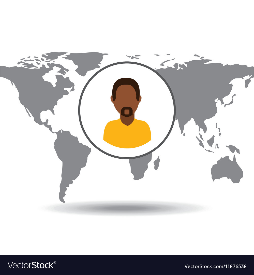 Afroamerican man social media world map royalty free vector afroamerican man social media world map vector image gumiabroncs Image collections