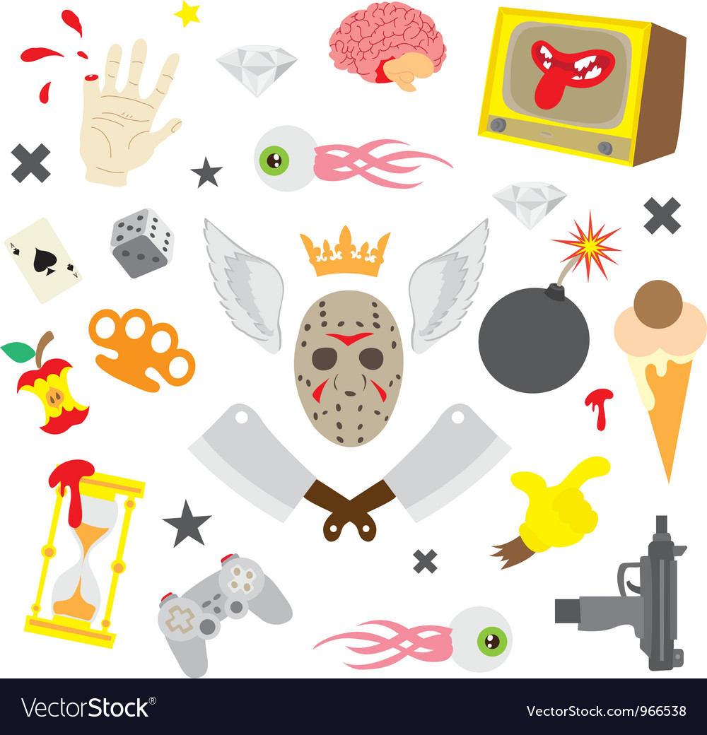 Colorful design elements set vector image