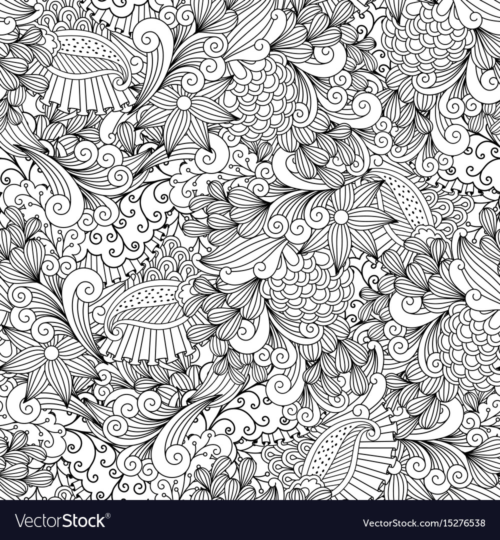 Floral vintage ornamental background vector image