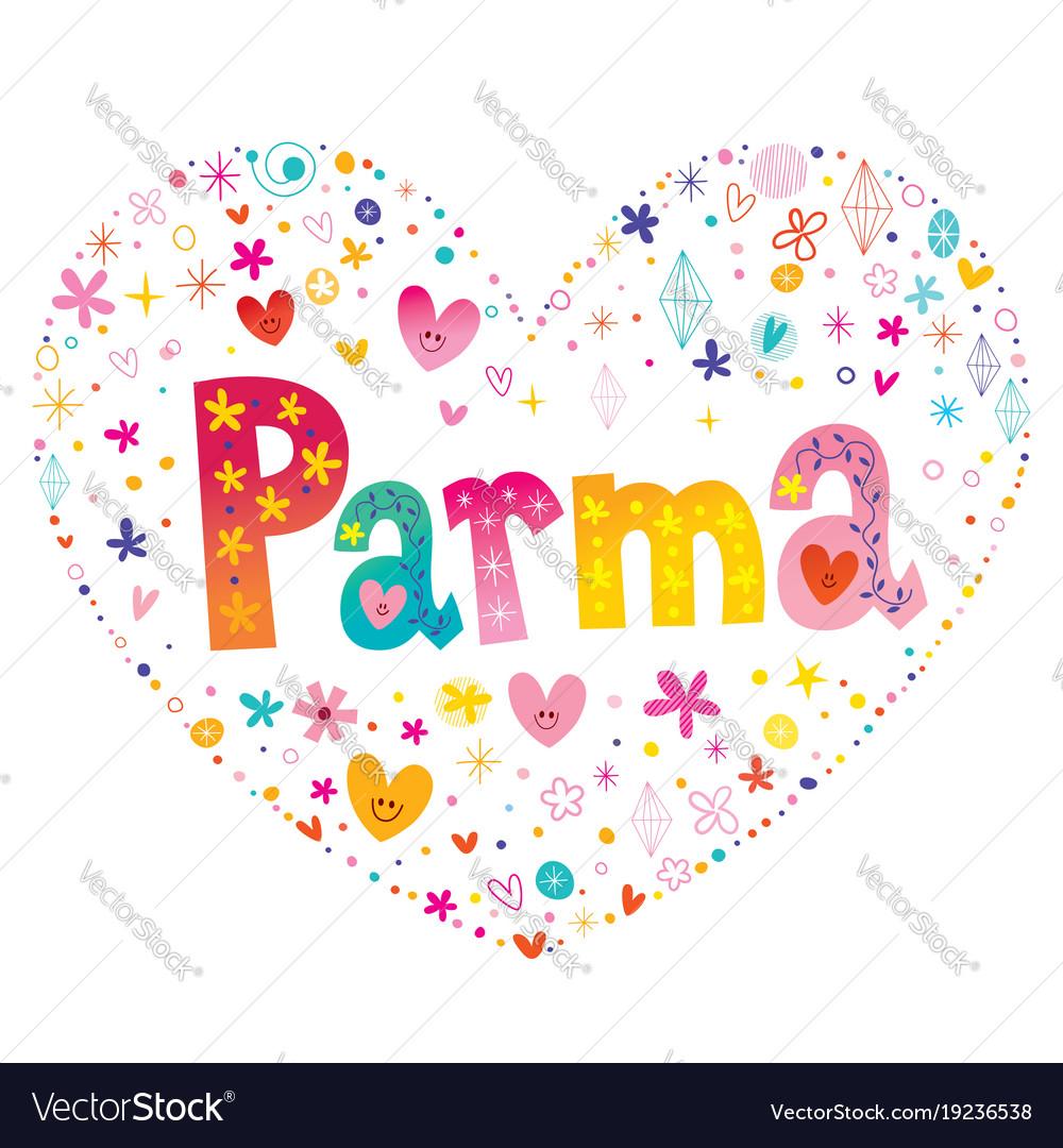 Parma city in italy vector image