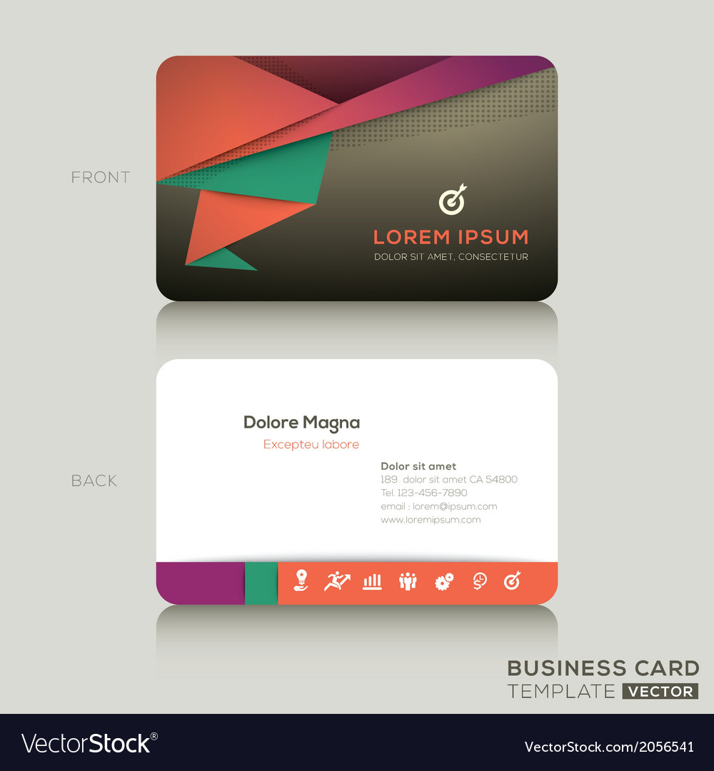 Modern business cards design template royalty free vector modern business cards design template vector image reheart Gallery