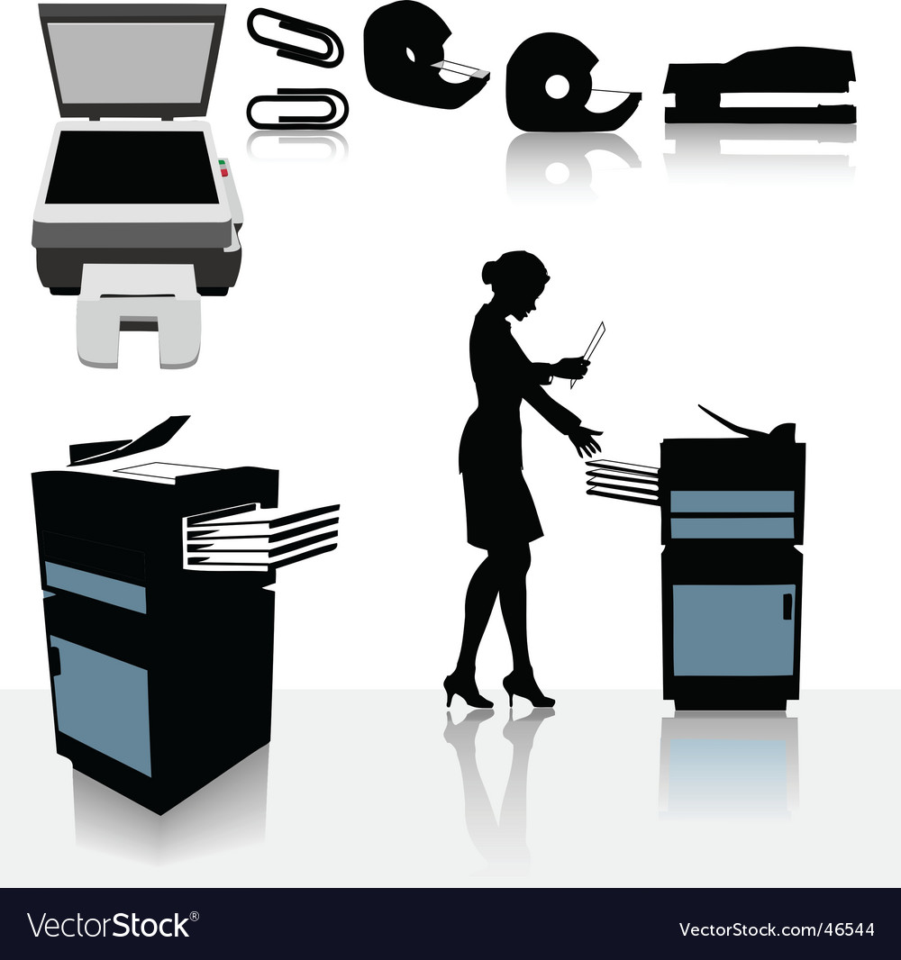 Office photocopiers vector image