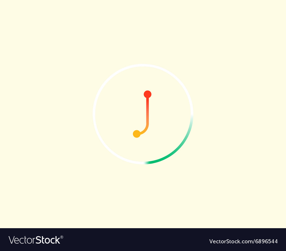 Abstract letter J logo design template Colorful vector image