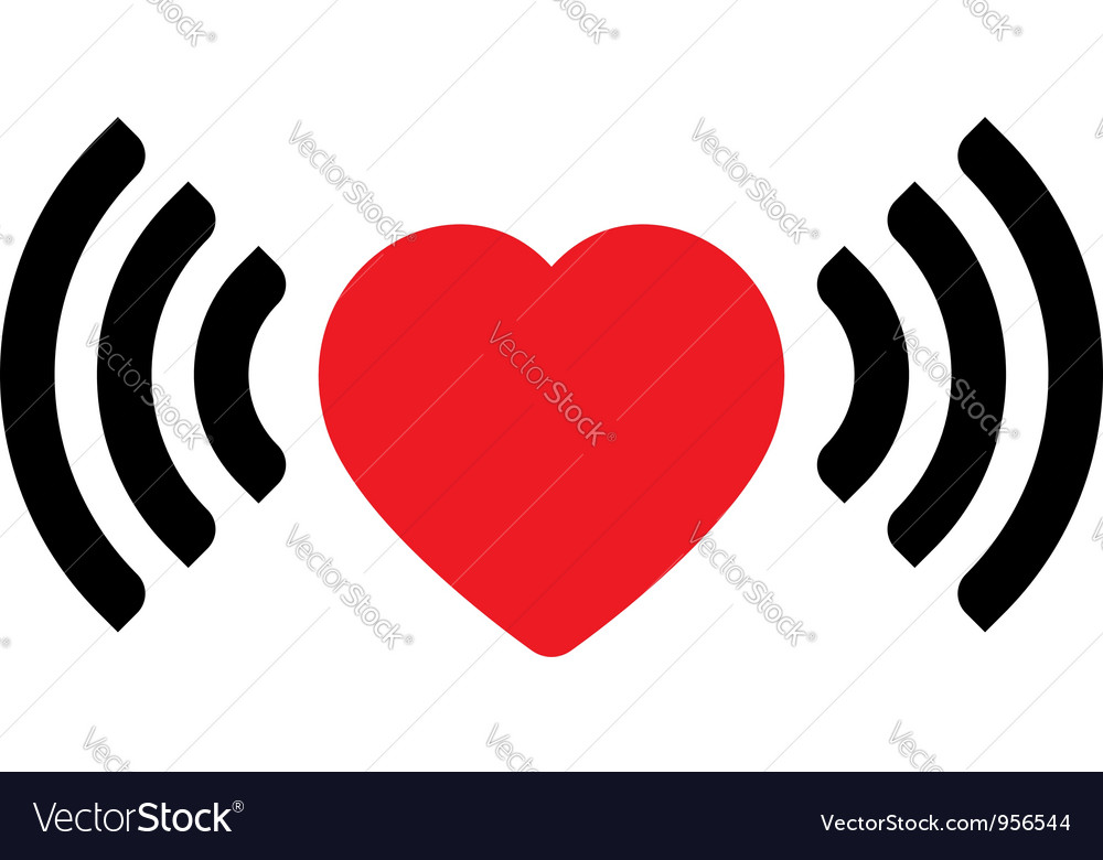 Love via internet vector image