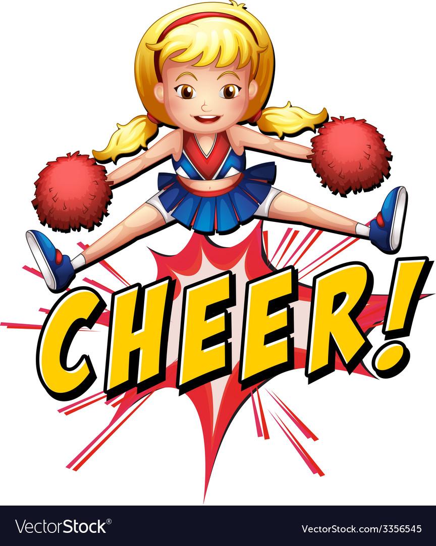 Cheer flash logo vector image