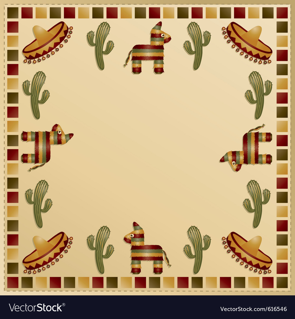 Mexican frame vector image