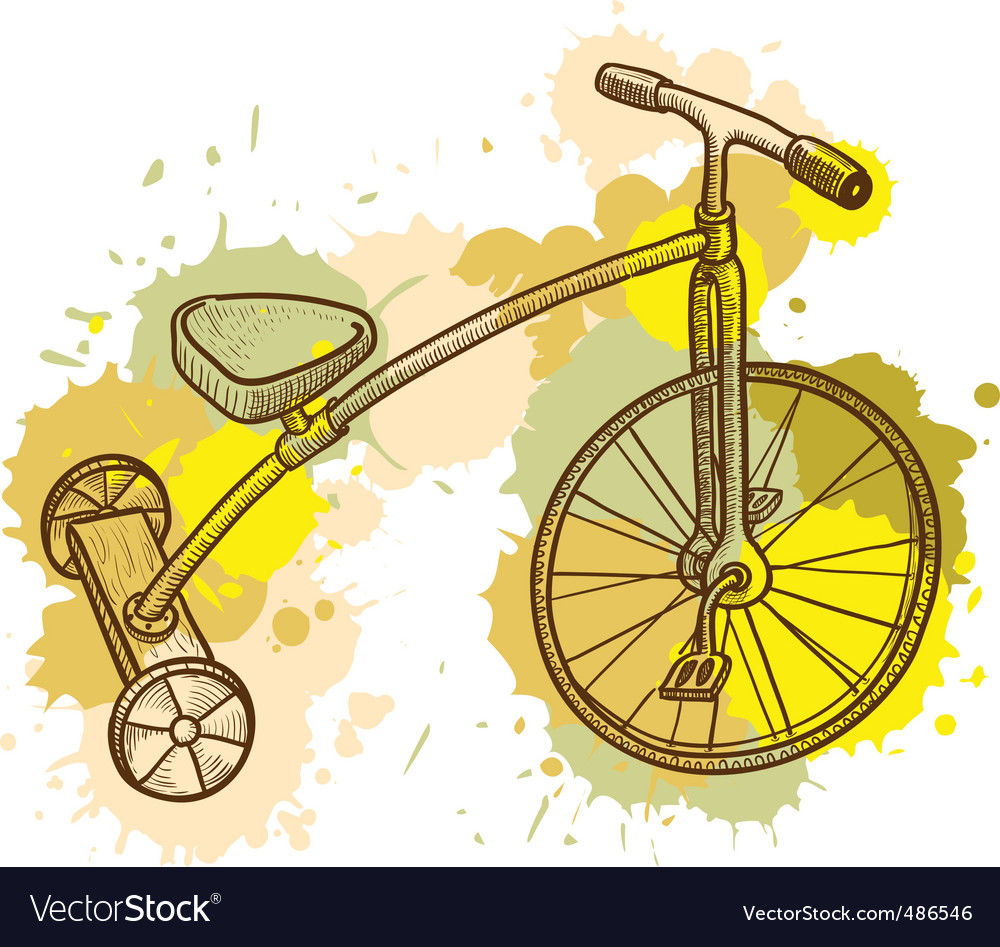 Tricycle vector image