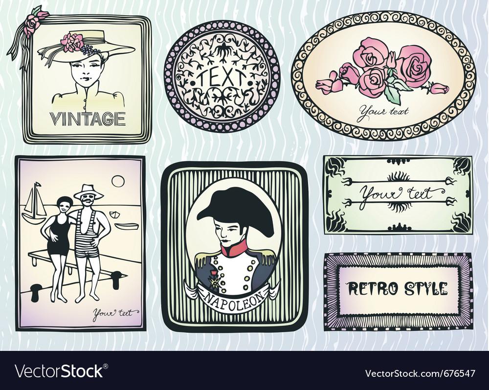Original vintage style vector image