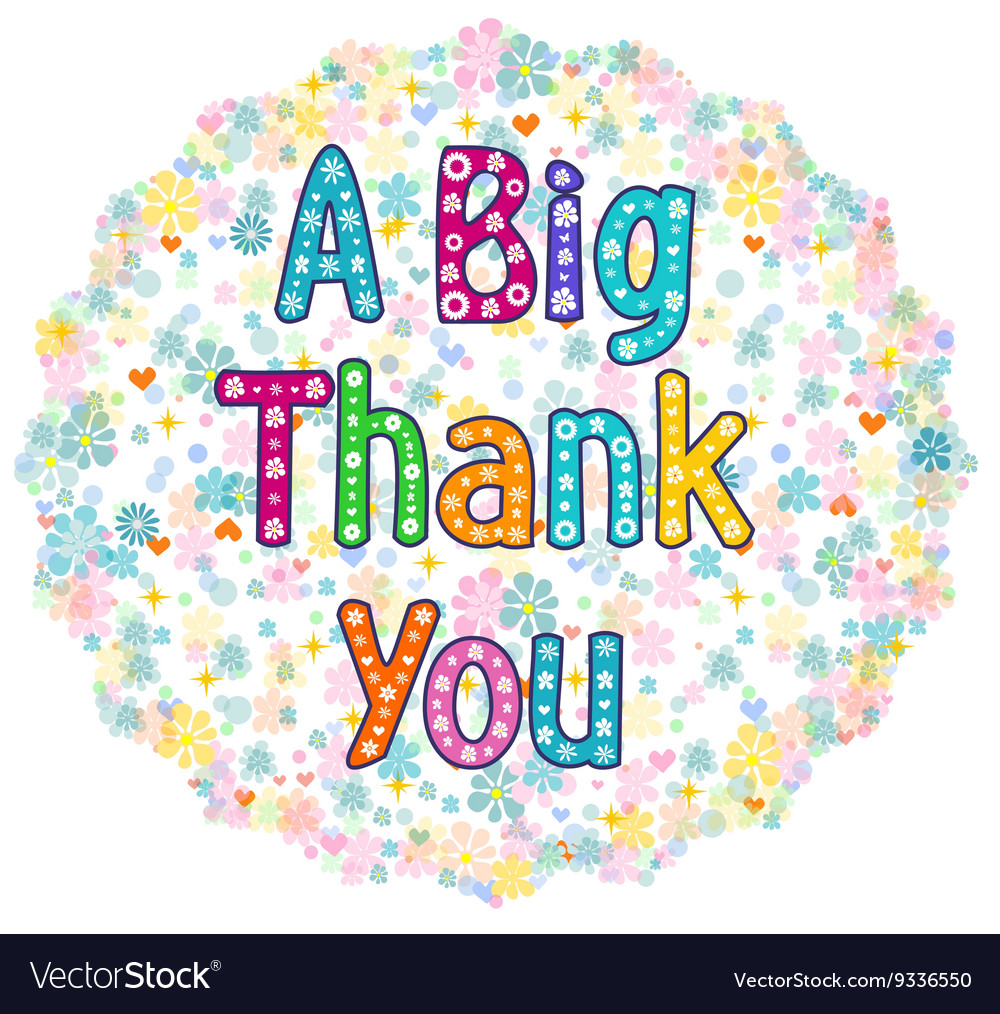 Big thank you greeting card royalty free vector image big thank you greeting card vector image m4hsunfo Gallery