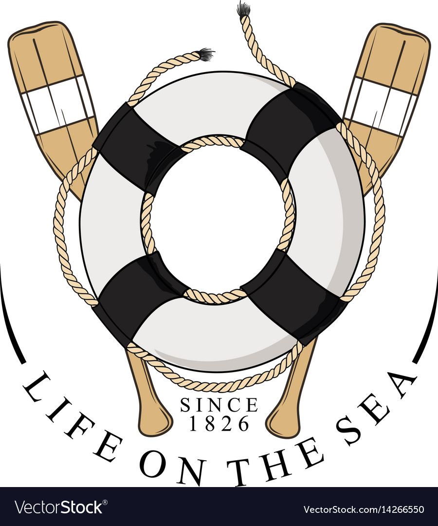 Lifebelt oar vector image
