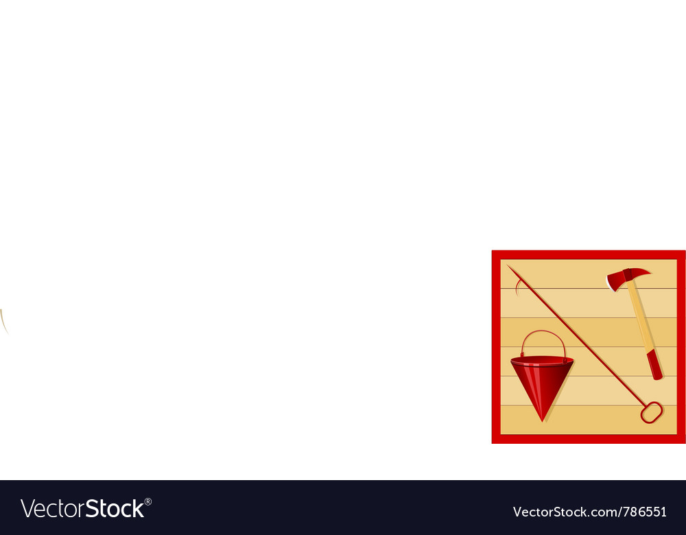 Fire accessories vector image