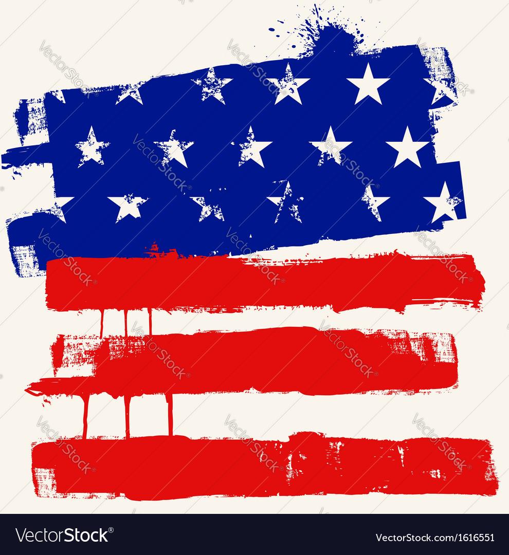 USA paint flag vector image
