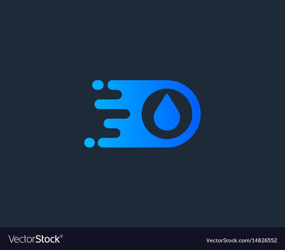 Drop logotype water delivery logo design vector image