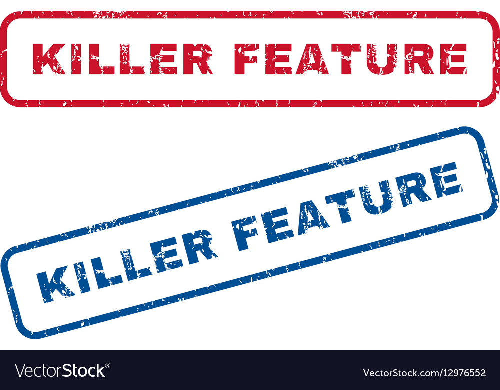 Killer Feature Rubber Stamps vector image