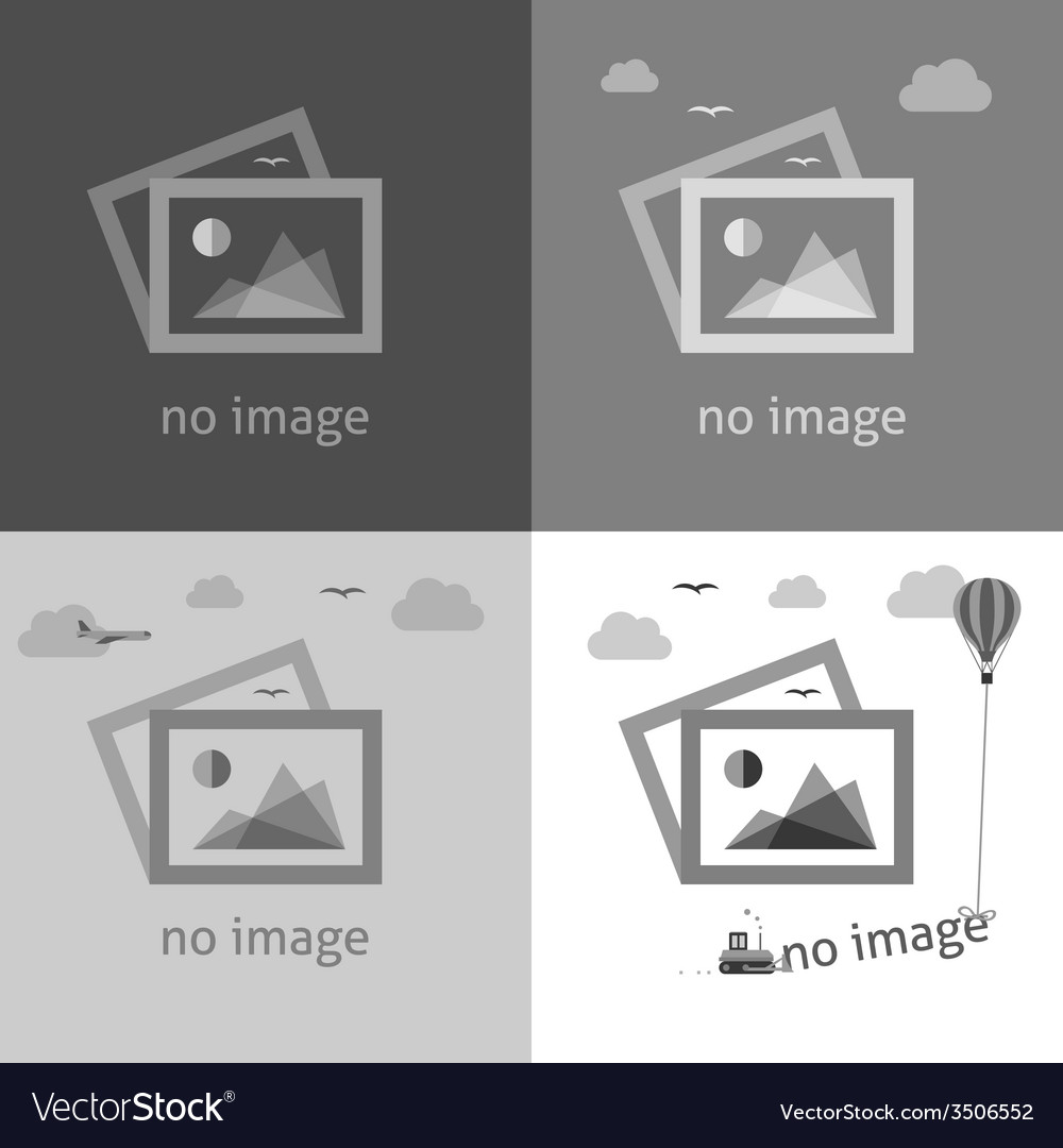No image signs for web page vector image