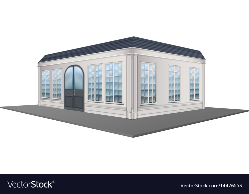 3d design for building with gray roof vector image
