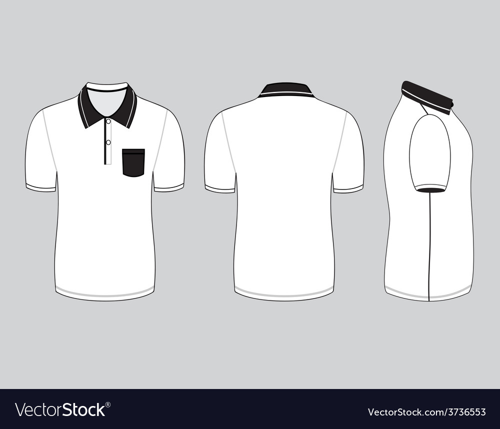 Polo shirt template vector images for Polo shirt design template