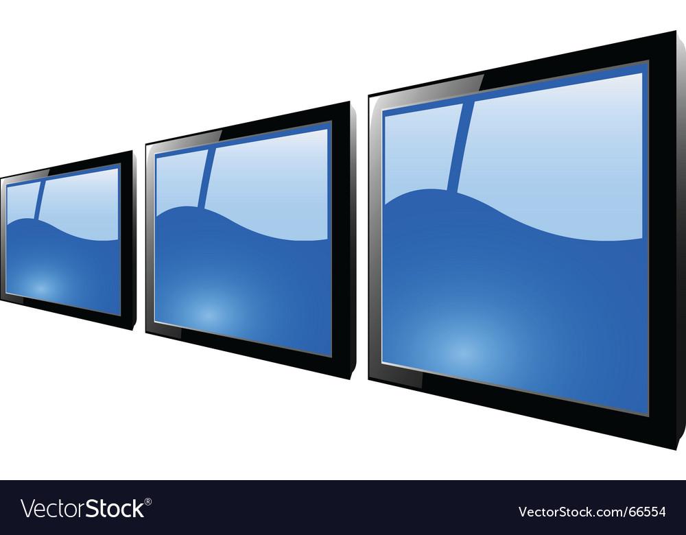 TFT monitor Vector Image