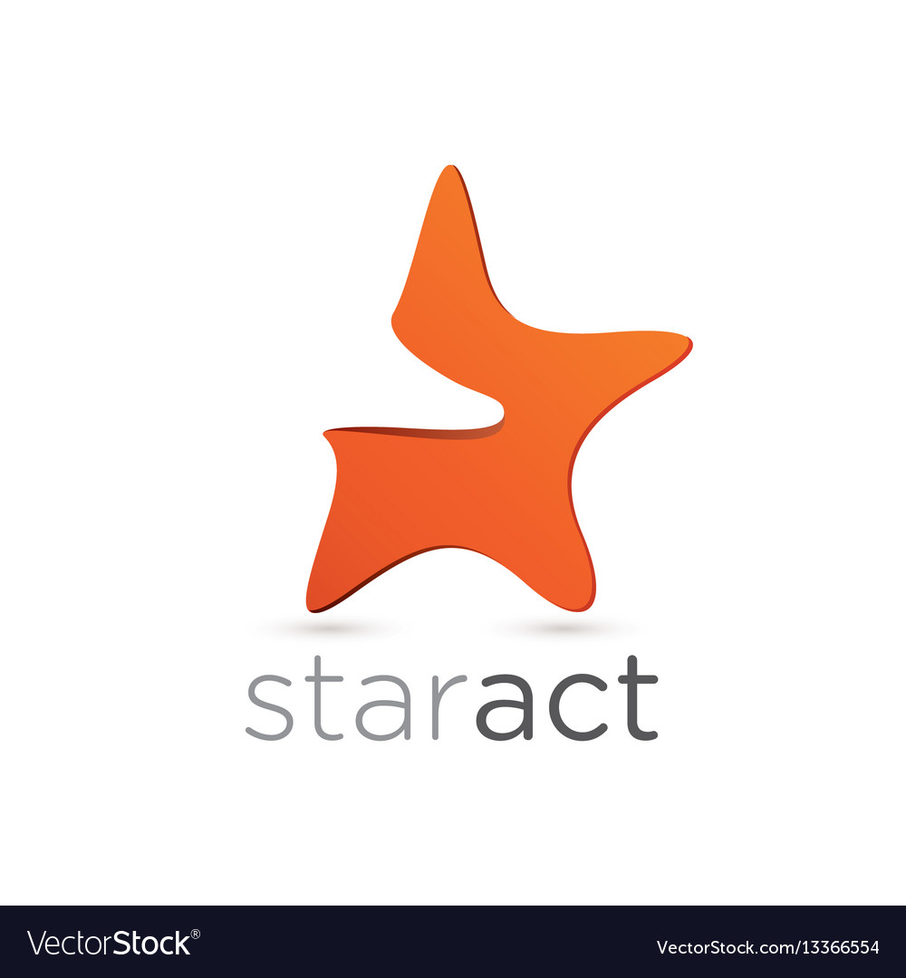 Figurative star emblem design vector image
