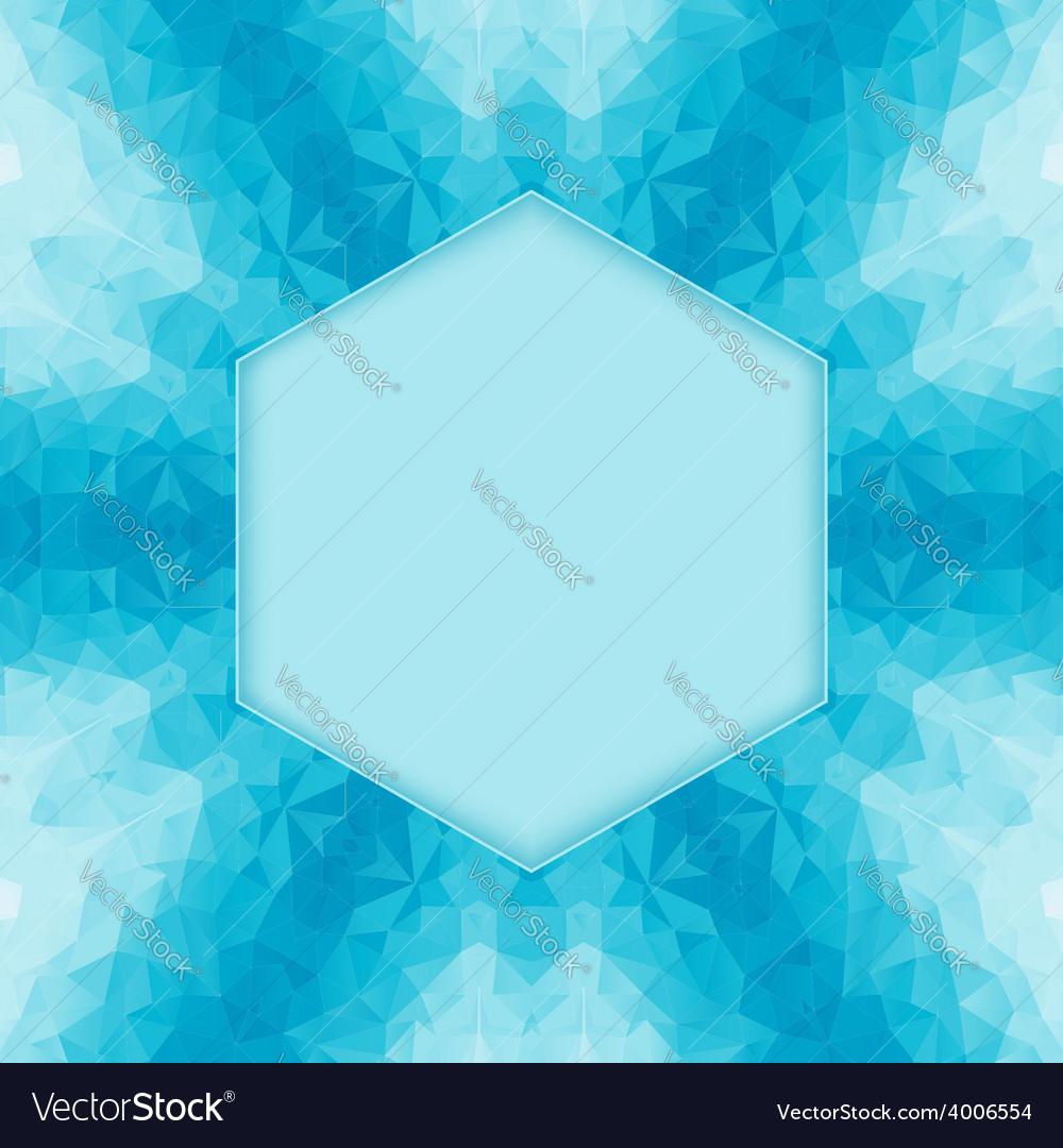Polygonal blue background vector image
