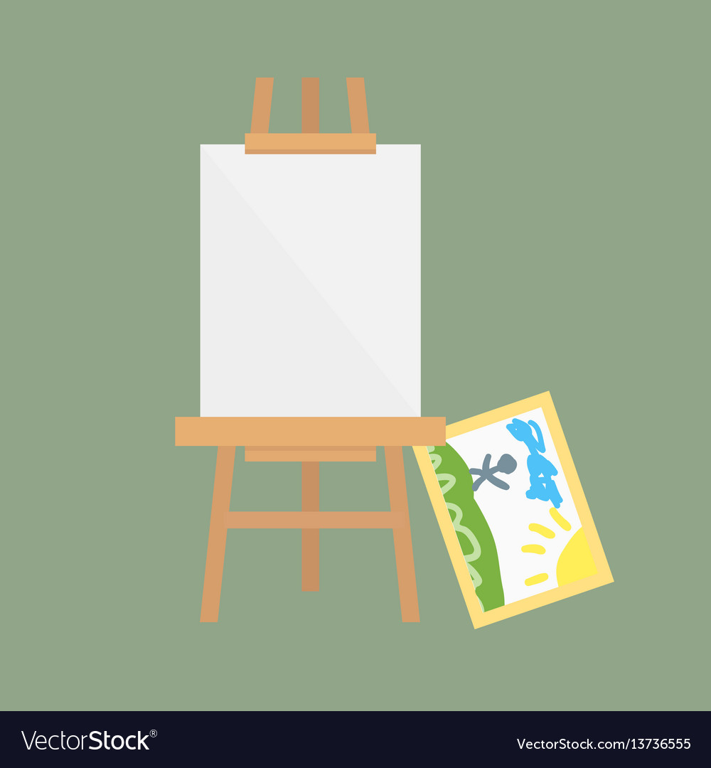 Easel art board isolated for some artist vector image