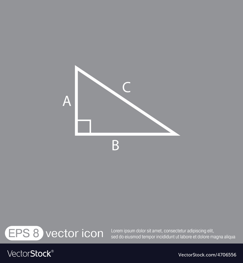 Triangle math symbol icon geometry learning math vector image triangle math symbol icon geometry learning math vector image buycottarizona