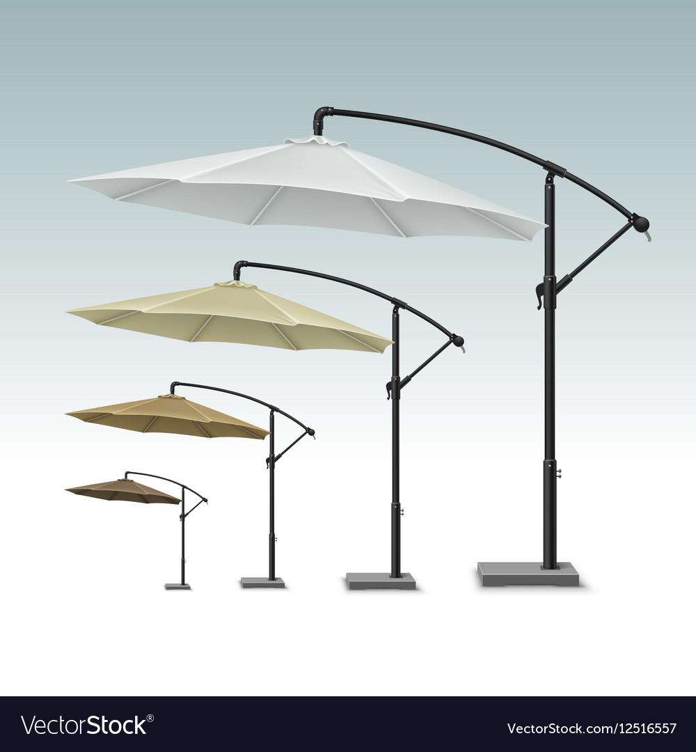 Blank Patio Outdoor Beach Cafe Umbrella Parasol vector image