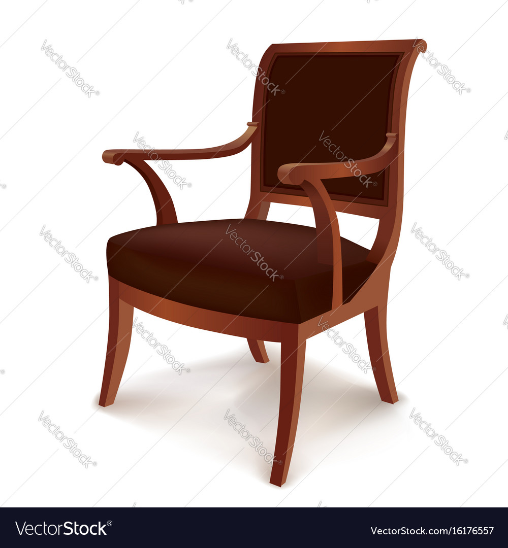 Vintage armchair chair isolated retro style vector image