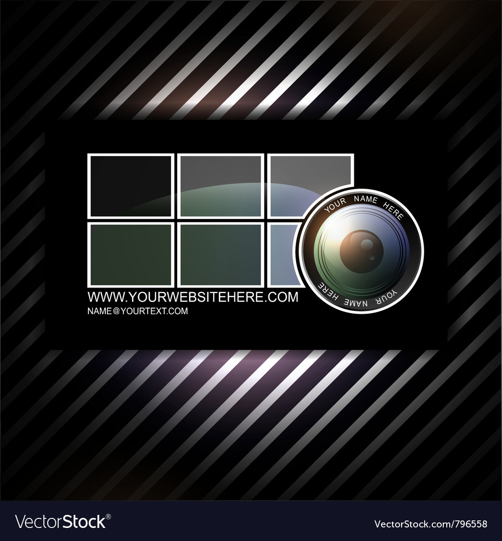 Photographer business card template with vector image flashek Images