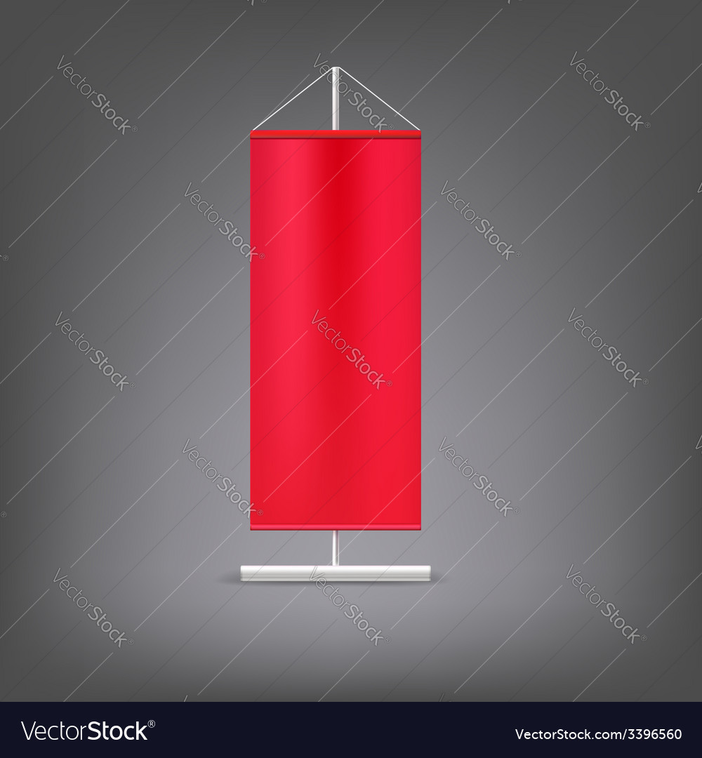 Red advertising stand Blank vector image