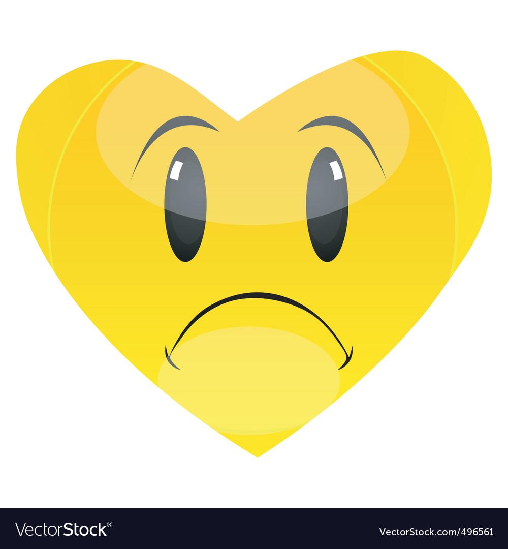 Sad heart vector image