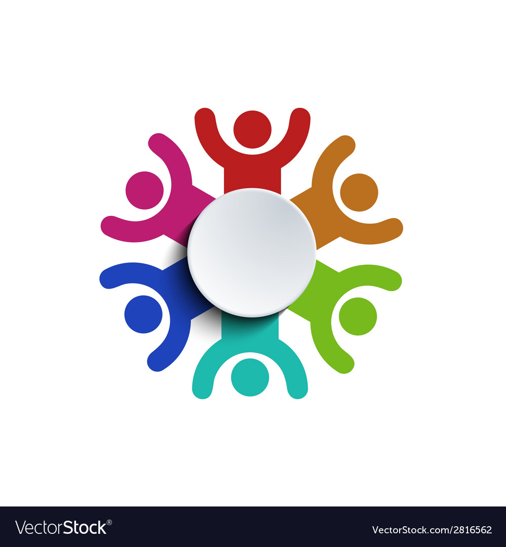 Concept group of people vector image