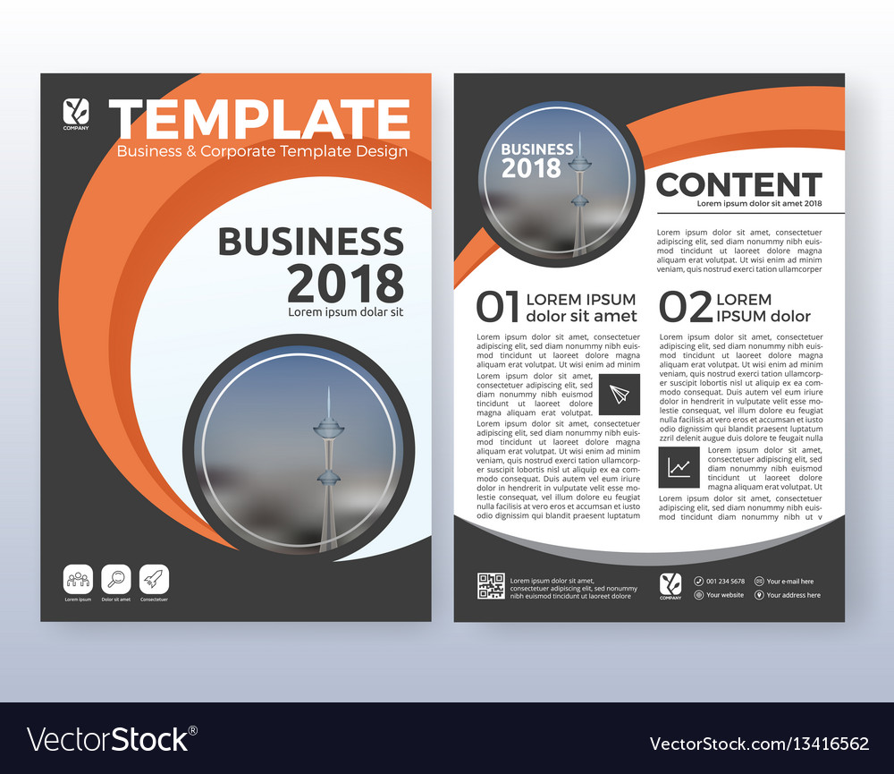 Multipurpose corporate business flyer design vector image