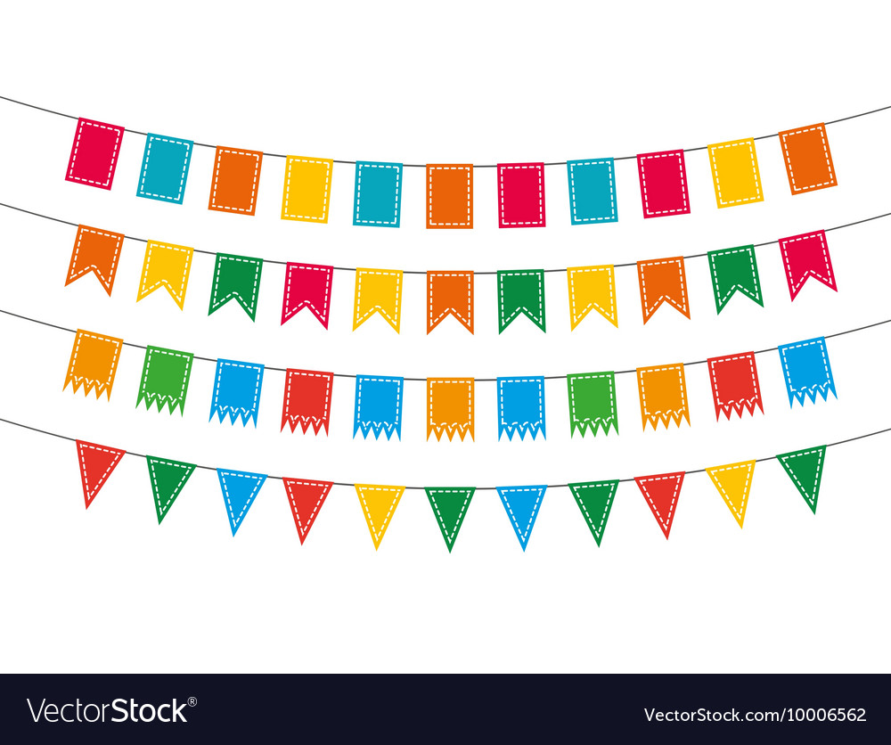 Pennant bunting collection vector image